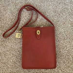 New Fossil bag purse crossbody red leather